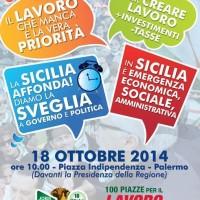 LAVORO, CISL: SABATO 18 Palermo, Piazza Indipendenza Manifestazione 100 piazze per il lavoro
