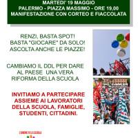 Manifestazione 19 maggio - Palermo, Piazza Massimo