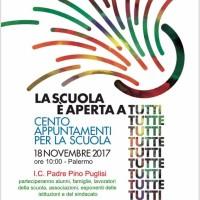 LA SCUOLA APERTA A TUTTI A TUTTE. Anche a Palermo sabato 18 novembre l'iniziativa organizzata dai sindacati di categoria.  I.C. Padre Pino Puglisi- Brancaccio, ore 10.00.