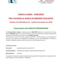 Presentazione del corso di preparazione al concorso per l'accesso al ruolo di Dirigente Scolastico