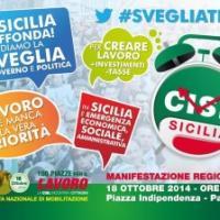 Sabato 18 Ottobre - Palermo, Piazza Indipendenza Manifestazione CISL 100 piazze per il lavoro
