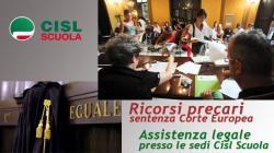 La Cisl Scuola per i precari, tutela sindacale e legale